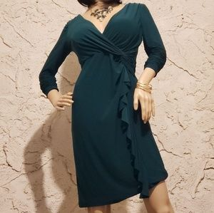 Dresses - Dress, scarf and brouche